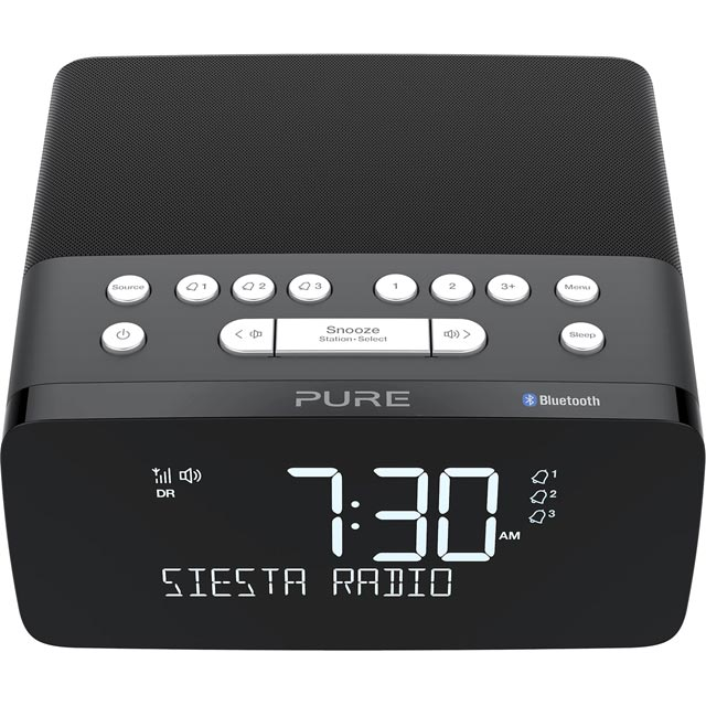 Pure Siesta Charge DAB / DAB+ Digital Radio with FM Tuner - Graphite - 154501 - 1