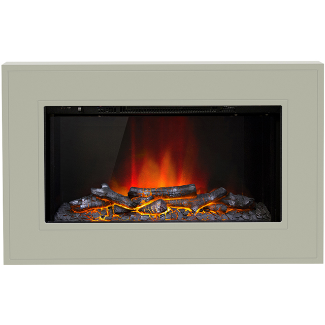 BeModern Albali 15717 Log Effect Wall Mounted Fire - Stone - 15717_STO - 1