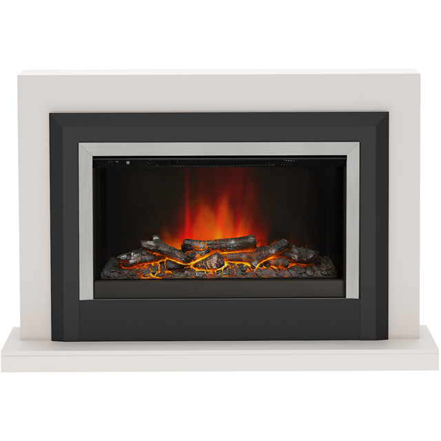 BeModern Arbour 15741 Log Effect Suite And Surround Fireplace - Cashmere - 15741_CSH - 1