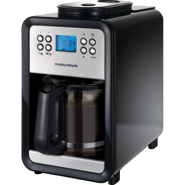 Morphy Richards 162101 Filter Coffee Machine with Timer - Black