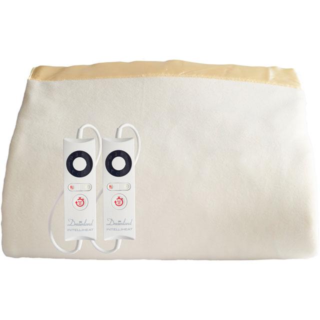 Dreamland IntelliHeat Harmony Luxury Dual Control 16454 Over Blanket in Cream