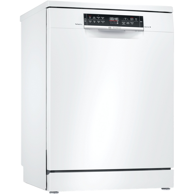 Bosch Serie 6 SMS6ZDW48G Wifi Connected Standard Dishwasher - White - C Rated