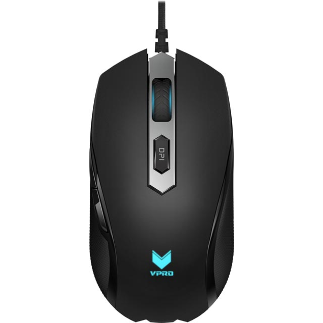 VPRO V210 Wired USB Optical Gaming Mouse - Black