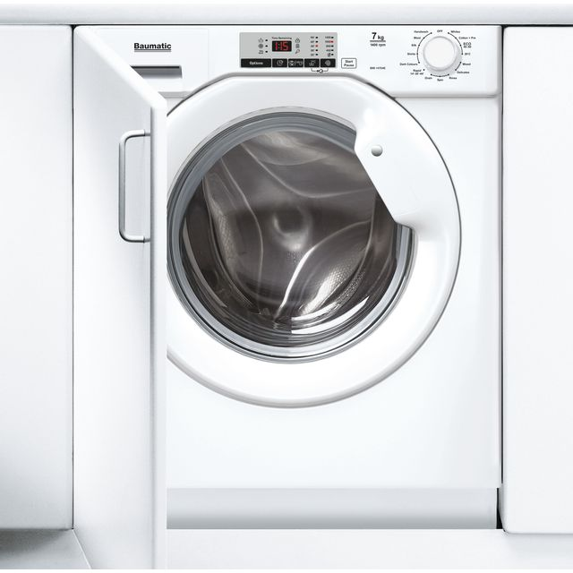 Baumatic BWI147D4E Integrated 7Kg Washing Machine with 1400 rpm - White - A+++ Rated