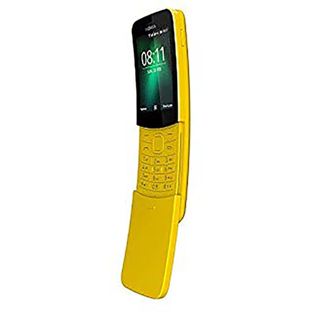 Nokia 8110 4GB Slide Phone in Yellow - 16ARGY01A06 - 1