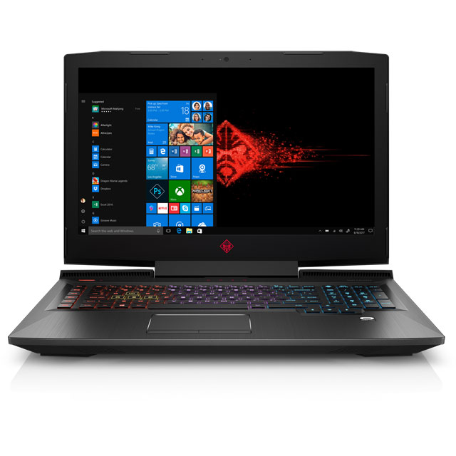 "HP OMEN by HP 17-an101na 17.3"" Gaming Laptop - Shadow Black"