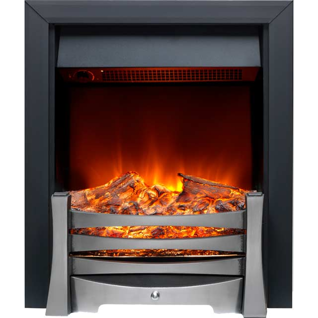 Burley Egleton 170R-BL Log Effect Inset Fire With Remote Control - Black