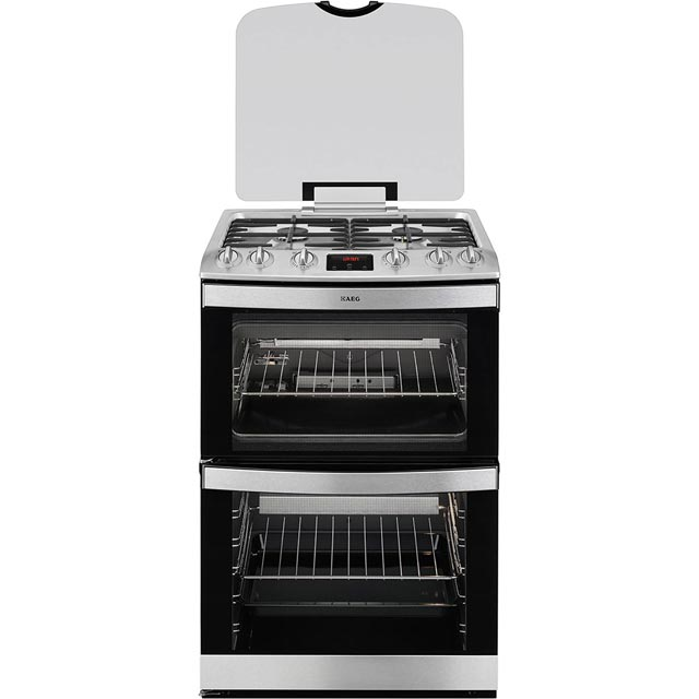 AEG 17166GM-MN Gas Cooker with Full Width Gas Grill - Stainless Steel - A/A Rated
