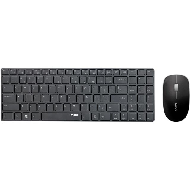 Rapoo X9310 Wireless USB Keyboard with Wireless Optical Mouse - Black