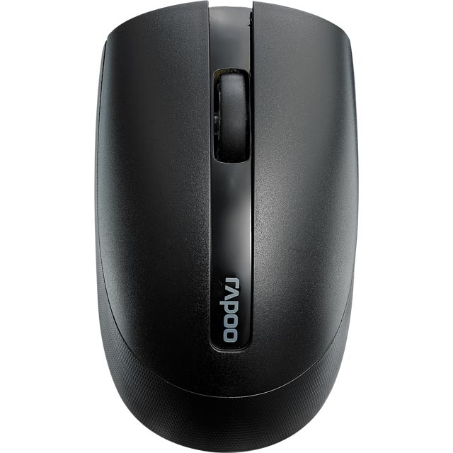 Rapoo M17 Silent Wireless USB Optical Mouse - Black