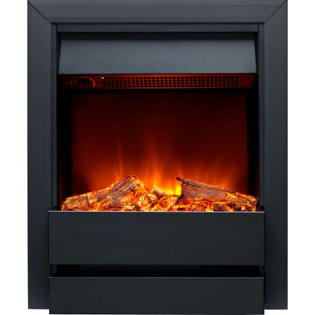 Burley Wardley 176R-BL Log Effect Inset Fire With Remote Control - Black