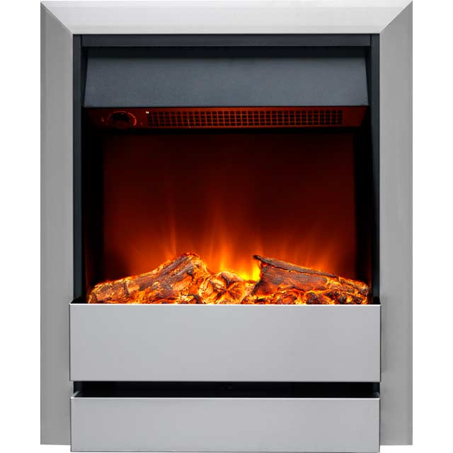 Burley Wardley 176R-SS Log Effect Inset Fire With Remote Control - Brushed Steel - 176R-SS_BS - 1
