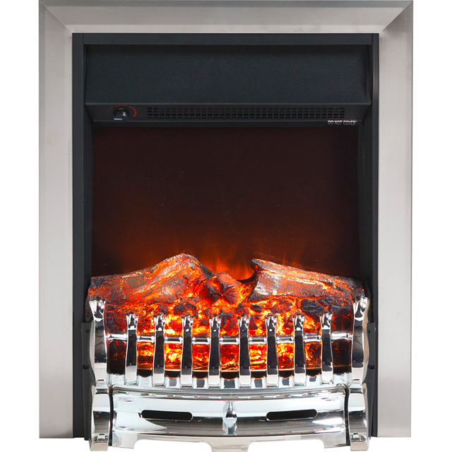 Burley Wansford 177R Log Effect Inset Fire - Chrome - 177R_CHR - 1