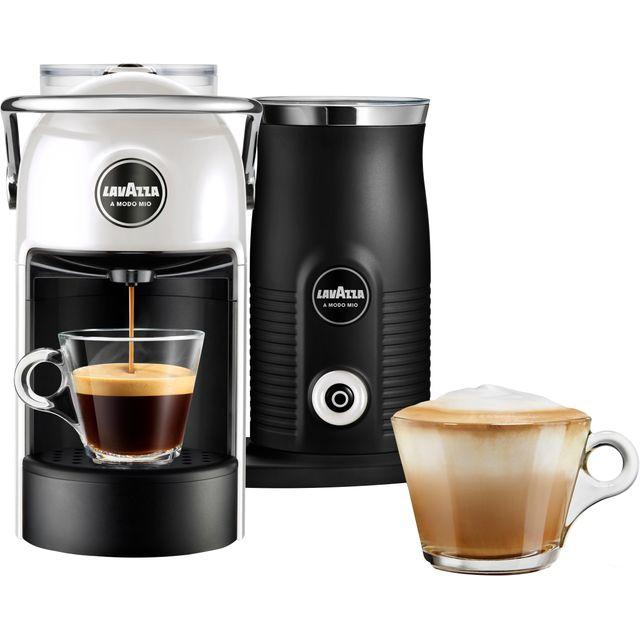 Image of Lavazza Jolie & Milk 18000422 Pod Coffee Machine - White / Cream