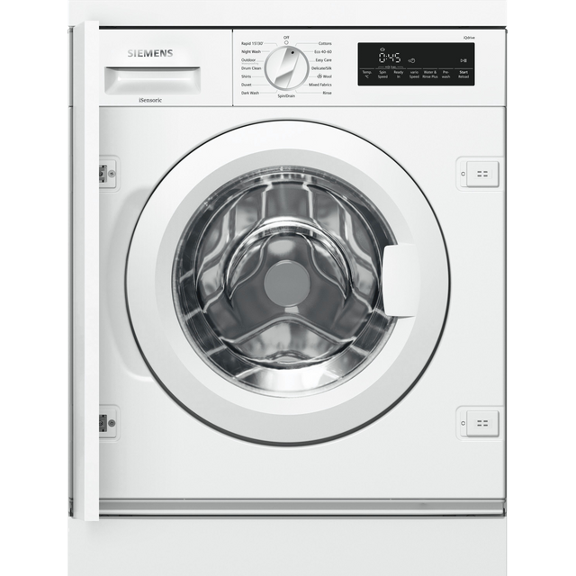 Siemens IQ-700 WI14W501GB Integrated 8Kg Washing Machine with 1400 rpm - White - A+++ Rated