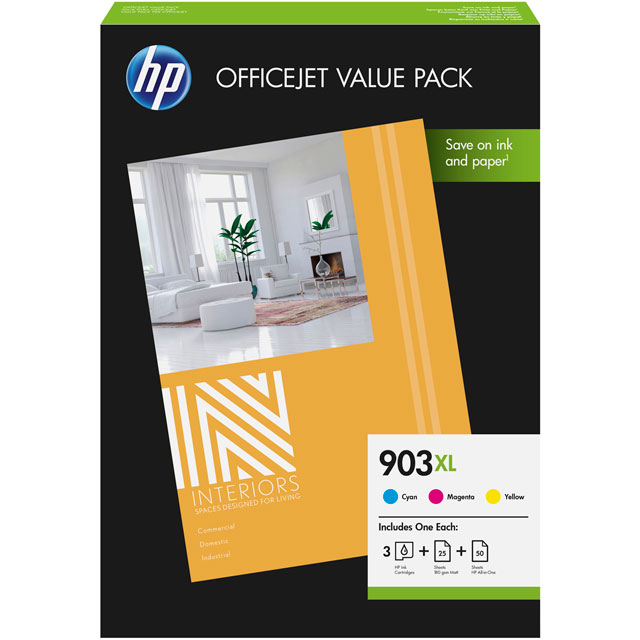 HP 903XL Office Value Pack-75 sht/A4/210 x 297 mm