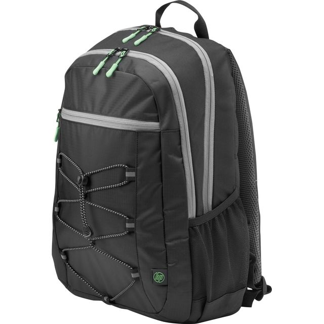 "HP Active Backpack for 15.6"" Laptop - Black / Green - 1LU22AA#ABB - 1"