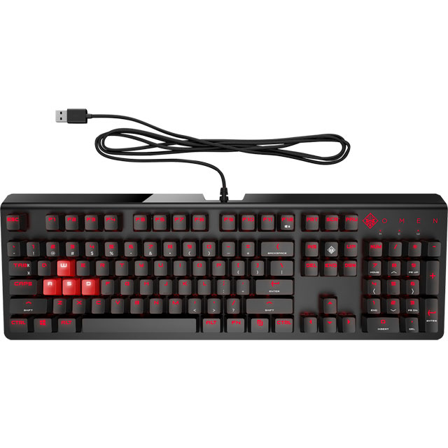 HP OMEN Wired USB Gaming Keyboard - Black - 1MY13AA#ABU - 1