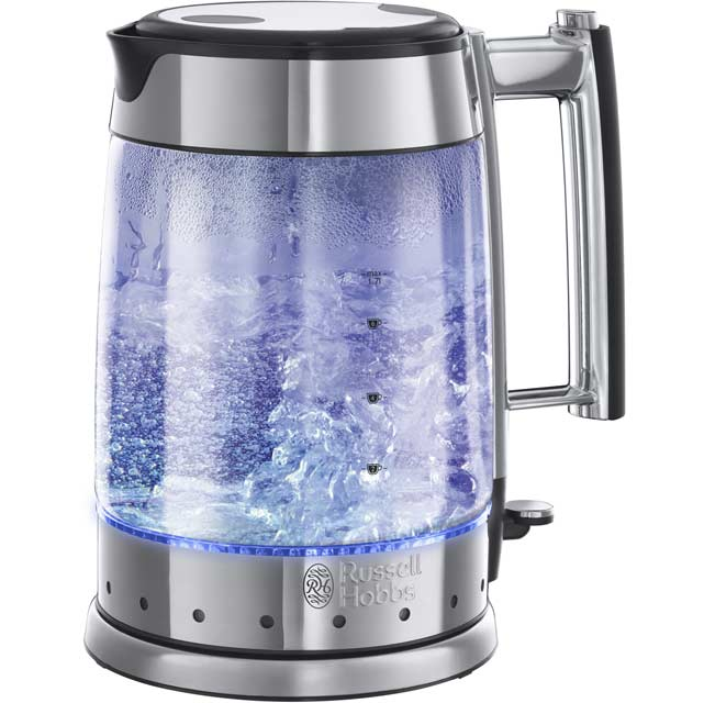 Russell Hobbs Glass Line 20780 Kettle - Silver / Black