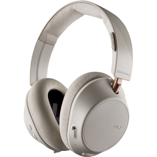 Plantronics BackBeat GO 810 Over-Ear Wireless Headphones - Bone White - 211822-99 - 1