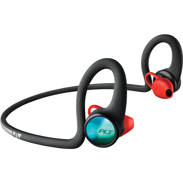 Plantronics BackBeat FIT 2100 In-Ear Water Resistant Wireless Sports Headphones - Black