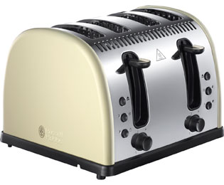 Russell Hobbs Legacy 4 Slice Polished 4 Slice Toaster - Cream