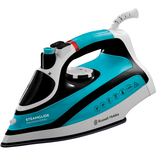Russell Hobbs Steamglide Pro 21370 2600 Watt Iron -Blue / Black