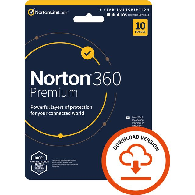 Norton Digital Download for 10 Devices - Annual Subscription