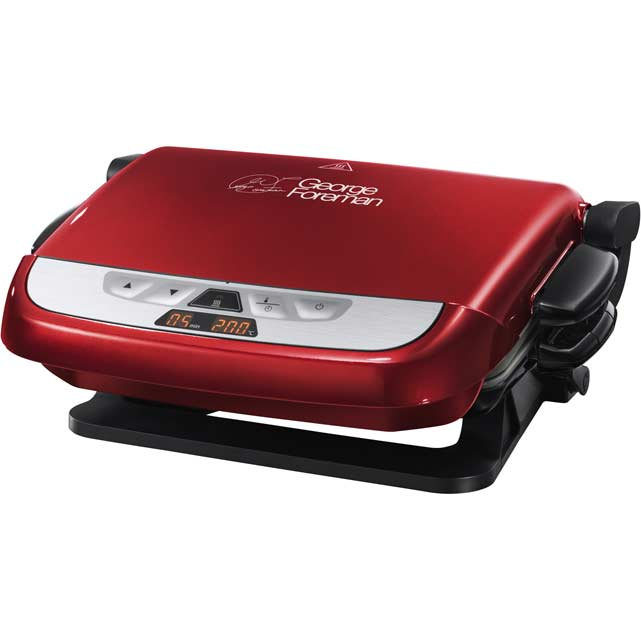 George foreman 21611 evolve health grill with removable plates red new ebay - Health grill with removable plates ...