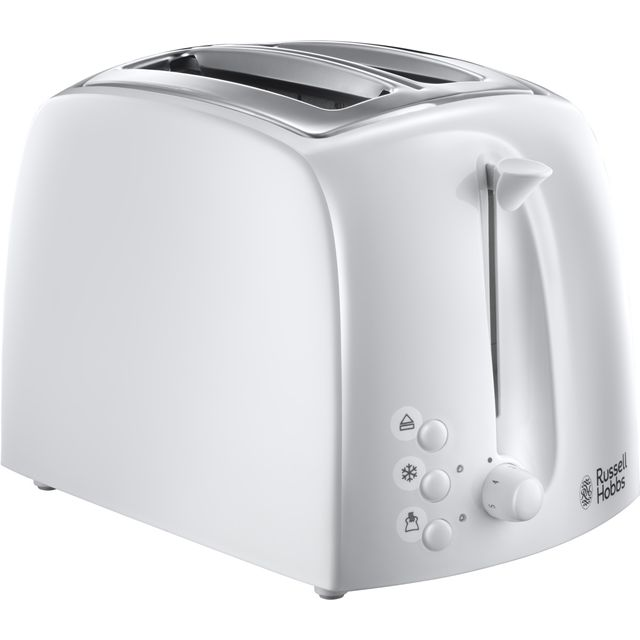 Russell Hobbs Textures 2-Slice Toaster 21640 - White Best Price and Cheapest