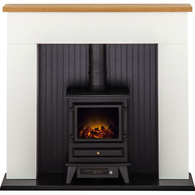 Adam Fires Innsbruck Suite with Hudson Electric Fire 21880 Log Effect Suite And Surround - Black - 21880_BK - 1