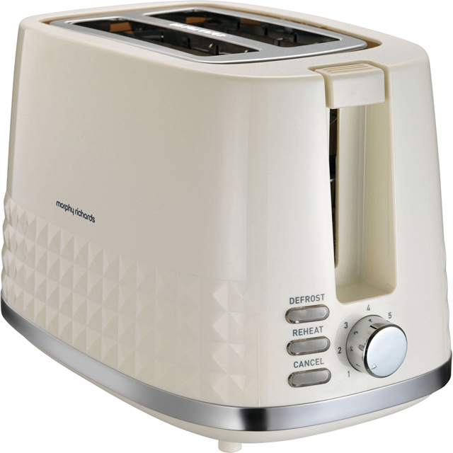 Morphy Richards Dimensions 220022 2 Slice Toaster - Cream - 220022_CR - 1