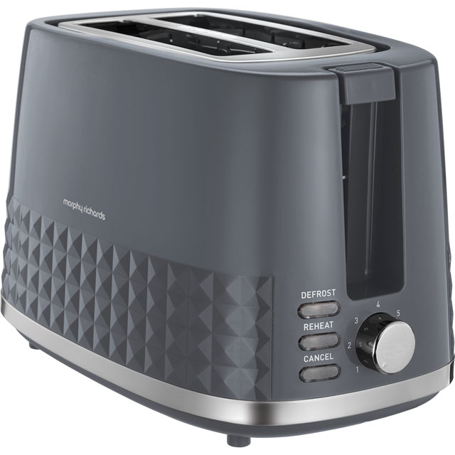 Morphy Richards Dimensions 220024 2 Slice Toaster - Grey - 220024_GY - 1