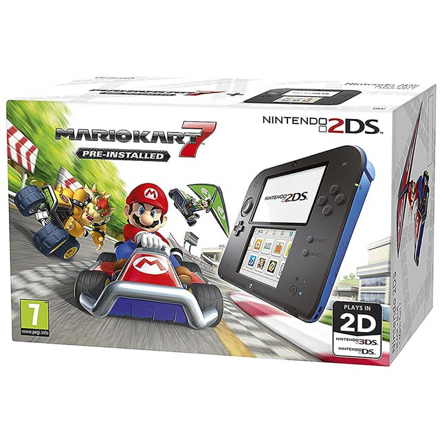 Nintendo 2ds & Mario Kart 7 - Blue & Black - Currys