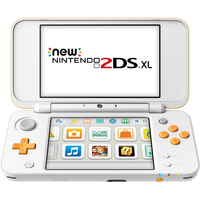 Nintendo 2DS XL 4GB - White / Orange