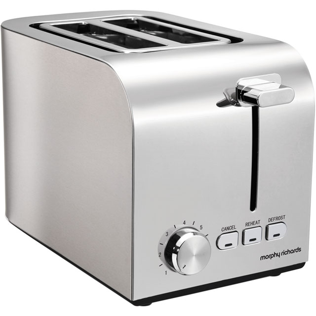 Morphy Richards Equip 222055 2 Slice Toaster - Brushed Stainless Steel - 222055_BS - 1