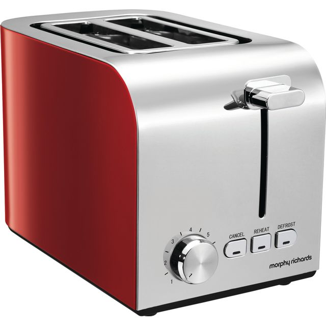 Morphy Richards Equip 222056 2 Slice Toaster - Red - 222056_RD - 1