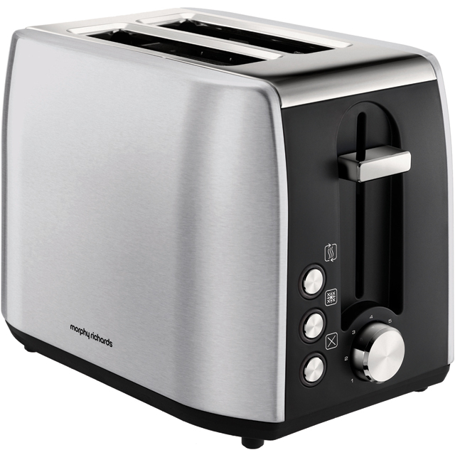Morphy Richards Equip 222057 2 Slice Toaster - Brushed Stainless Steel