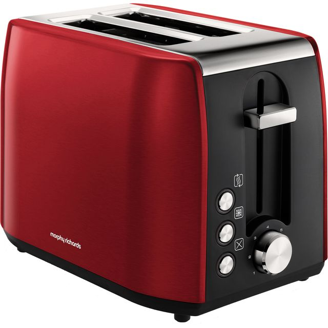 Morphy Richards Equip 222060 2 Slice Toaster - Red - 222060_RD - 1