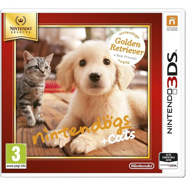 Nintendogs + Cats (Golden Retriever) Selects for Nintendo 3DS - 2230546 - 1