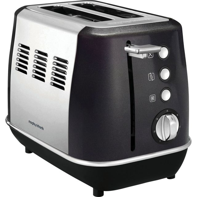 Morphy Richards Evoke 224405 2 Slice Toaster - Black - 224405_BK - 1