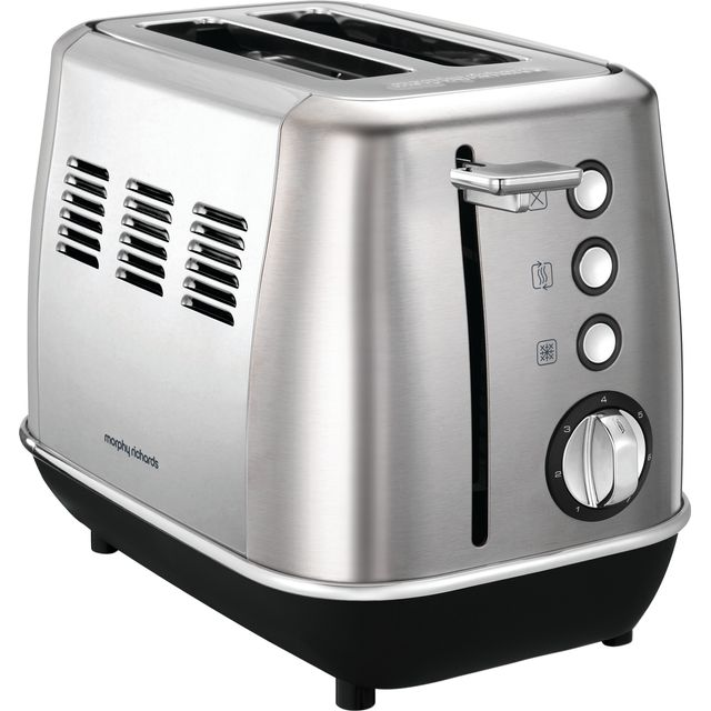 Morphy Richards Evoke 224406 2 Slice Toaster - Brushed Steel - 224406_BS - 1