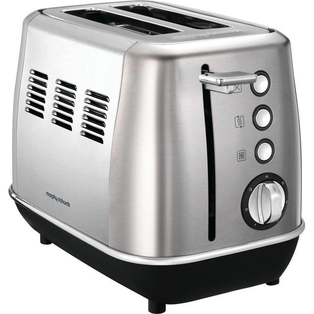 Morphy Richards Evoke 224406 2 Slice Toaster - Brushed Steel