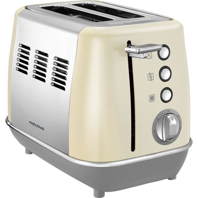 Morphy Richards Evoke 2 Slice Toaster - Cream