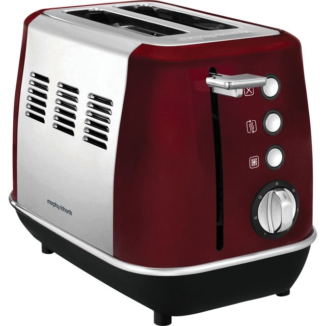 Morphy Richards Evoke 224408 2 Slice Toaster - Red - 224408_RD - 1