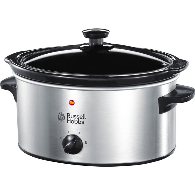 Russell Hobbs 23200 3.5 Litre Slow Cooker - Stainless Steel - 23200_SS - 1