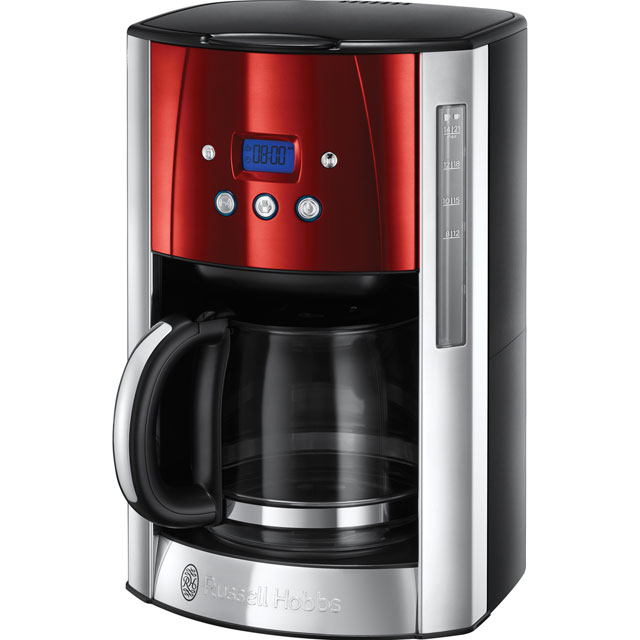 Russell Hobbs Luna 23240 Filter Coffee Machine with Timer - Red - 23240_SRD - 1