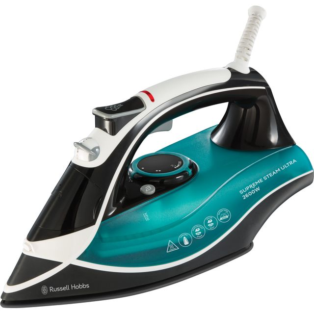 Russell Hobbs Supreme Steam Ultra 23260 2600 Watt Iron -Black / Green
