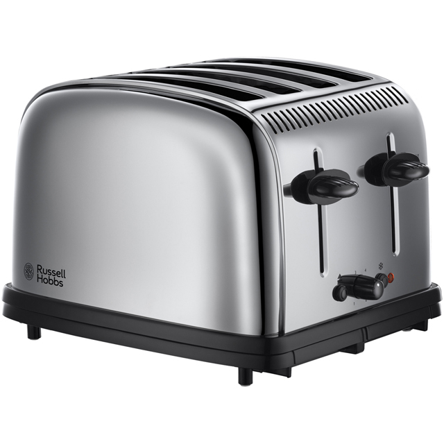 Russell Hobbs 4 Slice Toaster - Polished Steel