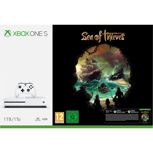 Xbox One S 1TB with Digital Download Of Sea Of Thieves - White - 234-00330 - 1